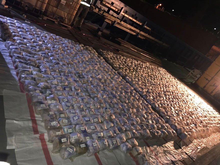 Dev uyuşturucu operasyonu: 1 ton 250 kilo eroin ele geçirildi