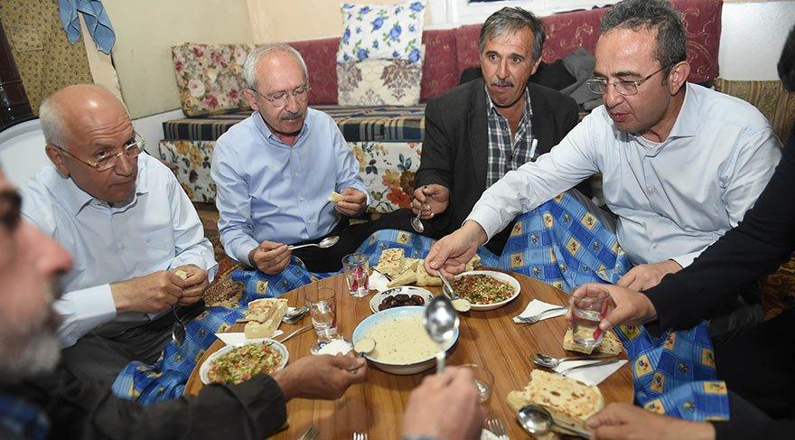 Kemal Kılıçdaroğlu köy evinde iftar sofrasına konuk oldu
