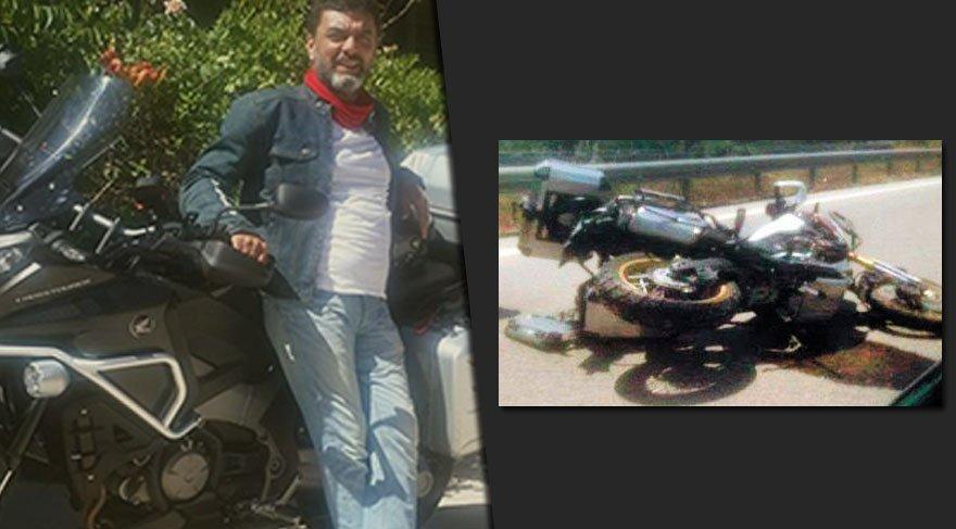 Motosiklet tutkunu Atıf Cem Altan kaza kurbanı