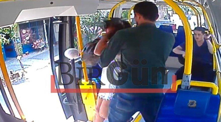 Şort giyen genç kıza saldırıda şok görüntü