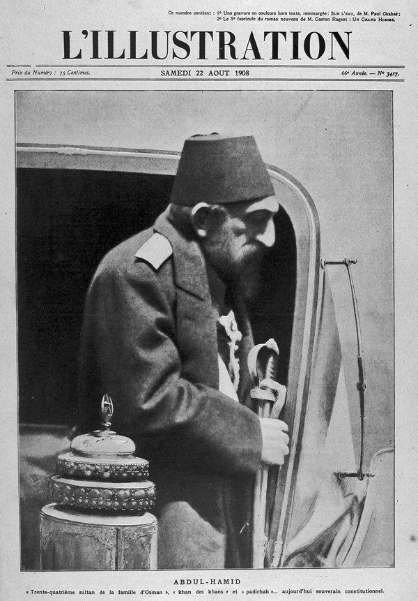 II. Abdülhamid dünyaca ünlü Fransız dergsi L'Illustration'un kapağında. Yıl: 1908 Fotoğraf: Depo Photos