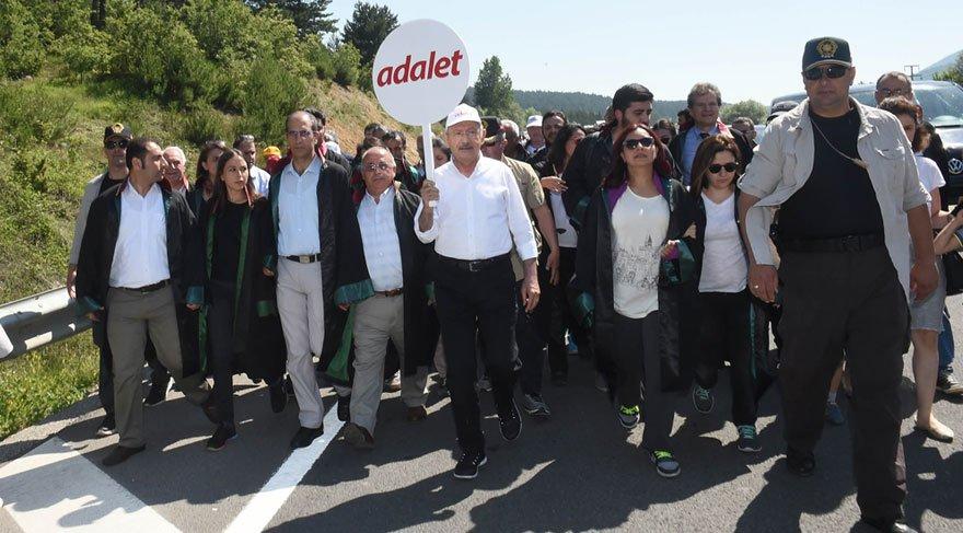 Adalet Yürüyüşü'nde onuncu gün