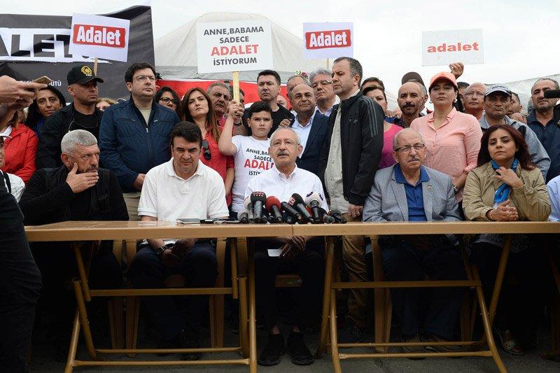 FOTO:DHA - Adalet Yürüyüşü'nün dördüncü gün etabı, Kılıçdaroğlu'nun açıklaması ile başladı.