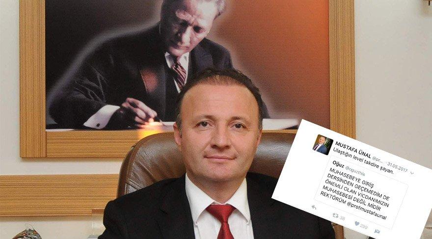 Akdeniz Üniversitesi Rektörü Mustafa Ünal'ın öğrencilerine verdiği komik cevaplar, görenleri güldürüyor