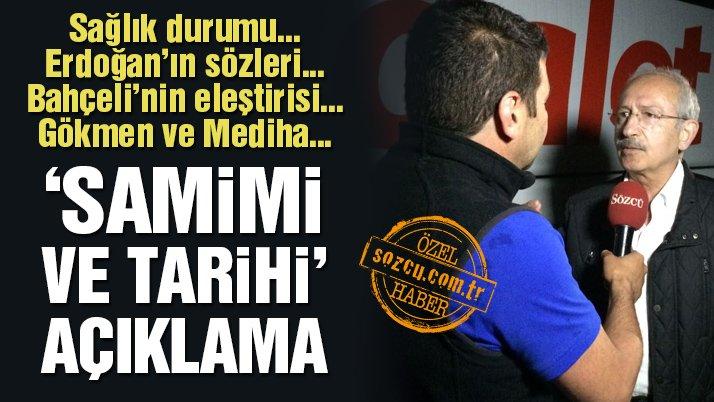 Kılıçdaroğlu'ndan Sözcü TV'ye özel açıklamalar