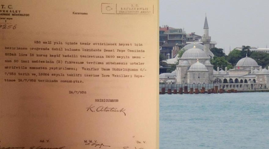 Sunay Akın, Atatürk'ün Şemsi Paşa Camii kararnamesini paylaştı