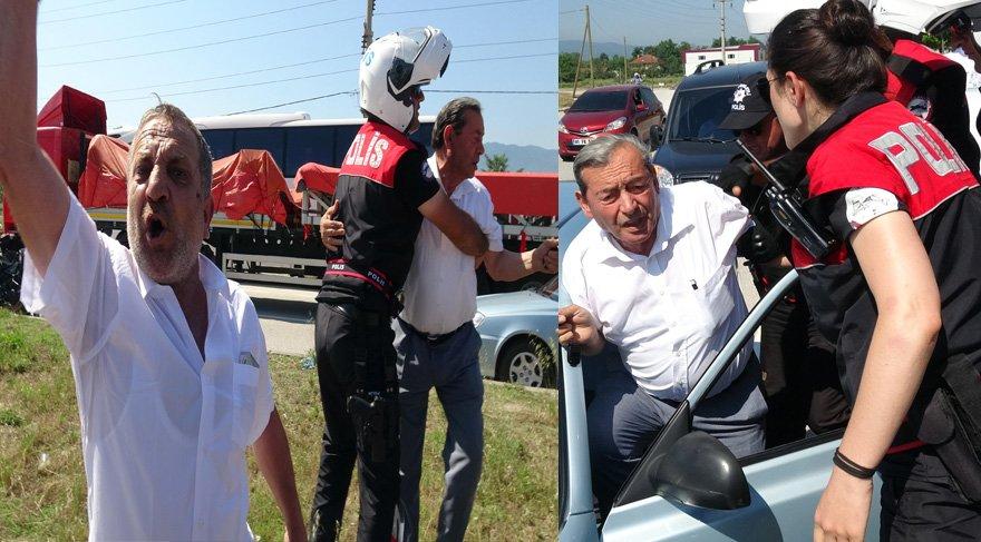 FOTO:DHA - Korteje laf atanüç kişiye polis ekipleri müdahale etti ve bölgeden uzaklaştırılmalarını sağladı.