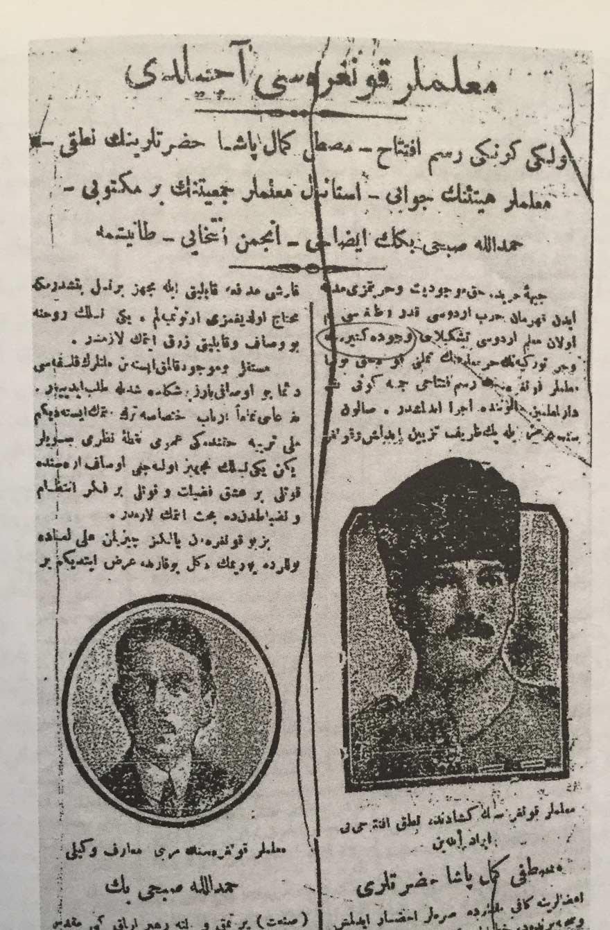 'Muallimler Kongresi Açıldı', Yenigün, 17 Temmuz 1921, s.