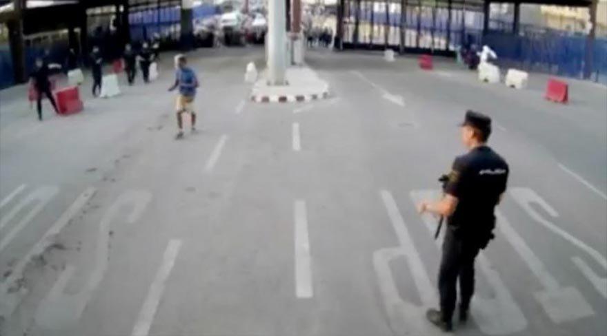 Polisten görülmemiş savunma