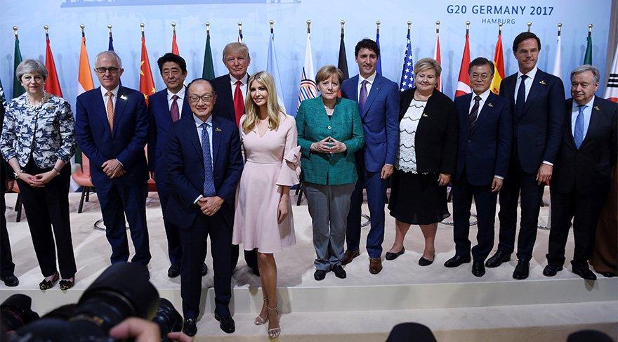Erdoğan, Putin, Merkel… Trump'ın kızı o toplantıda babasının koltuğuna oturunca…