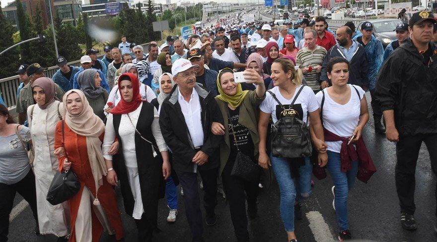 Adalet Yürüyüşü'nde yirminci gün