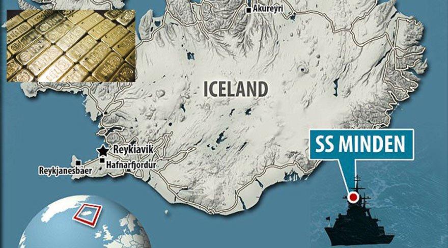Deniz dibinde, 4 ton Nazi altını bulundu