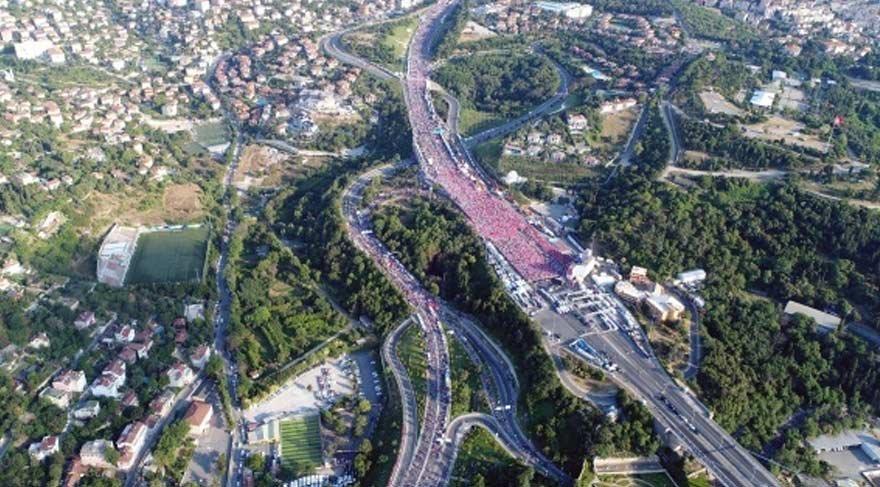 İşte 15 Temmuz Şehitler Köprüsü'nün havadan görüntüsü