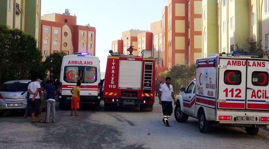 TOKİ konutlarındaki yangında 20 kişi hastanelik oldu
