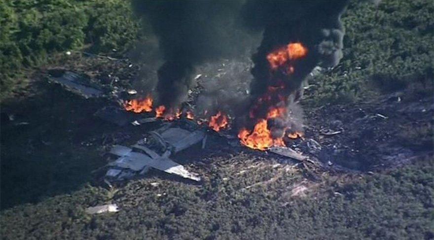 ABD'de büyük şok! Askeri uçak düştü: Kurtulan olmadı
