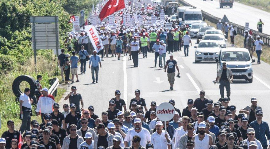 Adalet Yürüyüşü'nde on yedinci gün sona erdi