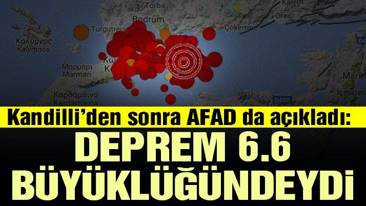 Kandilli'den son dakika açıklaması: Depremin büyüklüğü 6.6