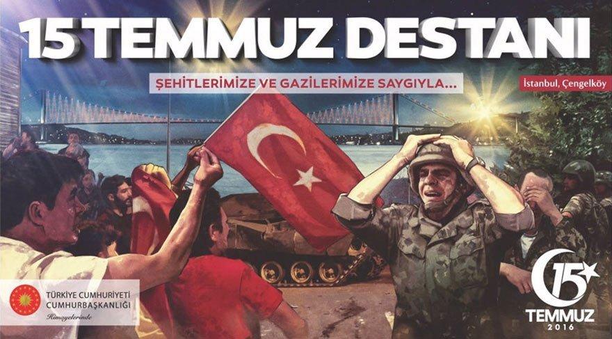 Cumhurbaşkanlığı tarafından hazırlanan afişler özellikle sosyal medyada tartışma konusu olmuştu. 15 Temmuz gecesi İstanbul Çengelköy'de yaşananları yansıtan bir afişteki askerin ise Amerikalı olduğu ortaya çıkmıştı.