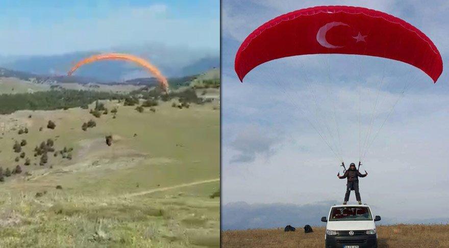 AKP'li vekil yamaç paraşütü yaptı