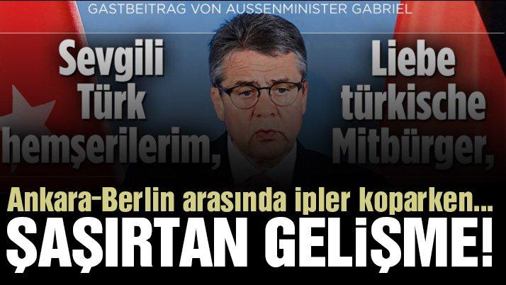 Alman Bakan'dan flaş mektup! Hem Türkçe hem Almanca yayınlandı