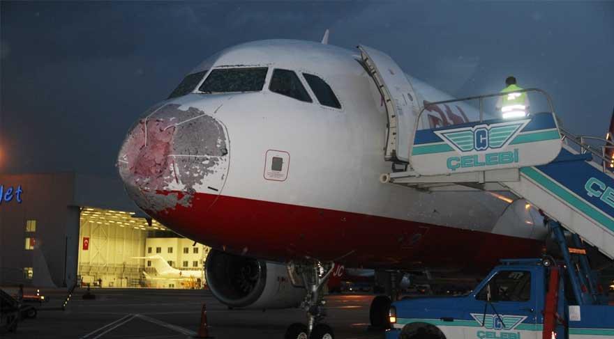 Dolu fırtınasında faciayı önleyen pilot paylaşılamıyor