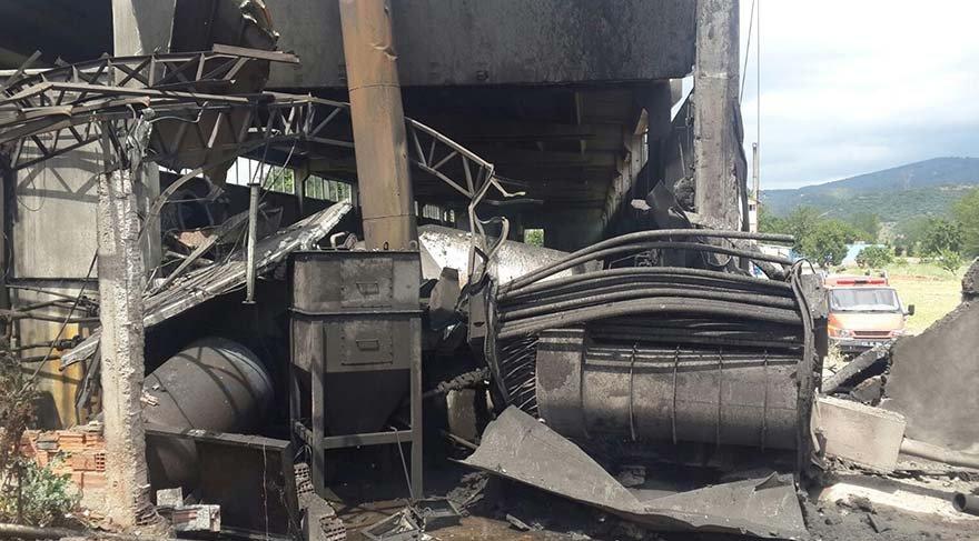 Deri fabrikasında patlama
