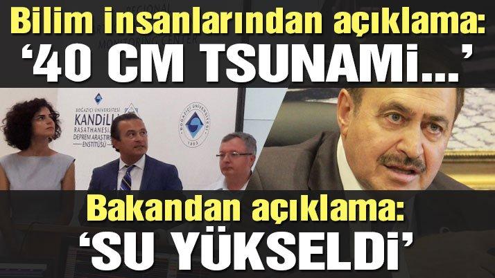 Son dakika: Bakandan tsunami açıklaması