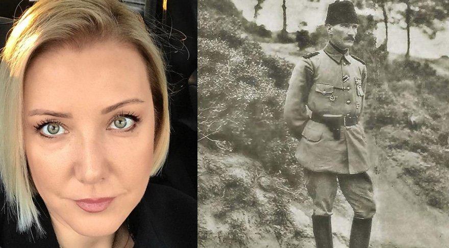 Berna Laçin'den bahanesiz Atatürk paylaşımı