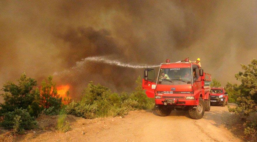Ege ve Akdeniz'de orman yangıları