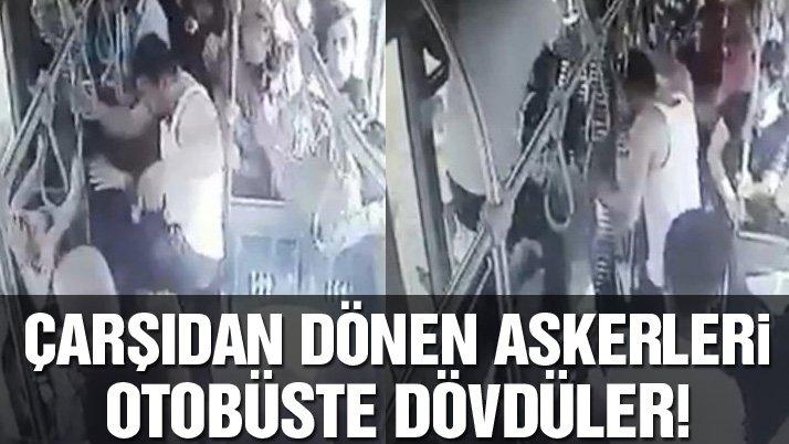 Son dakika: Çarşı izninden dönen askerlere otobüste saldırı