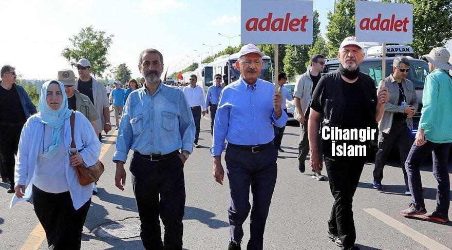 FOTO:DHA - Cihangir İslam, ilk günden beri Adalet Yürüyüşü'nde