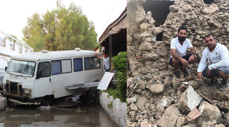 Bodrum'da bir deprem daha! Deniz suyu çekildi, tekneler parçalandı