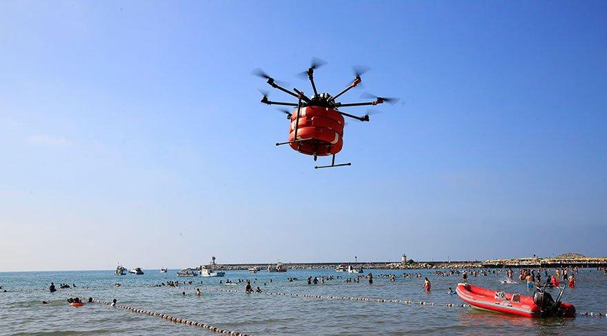 Drone ile can simiti 1000 kişi kurtardı
