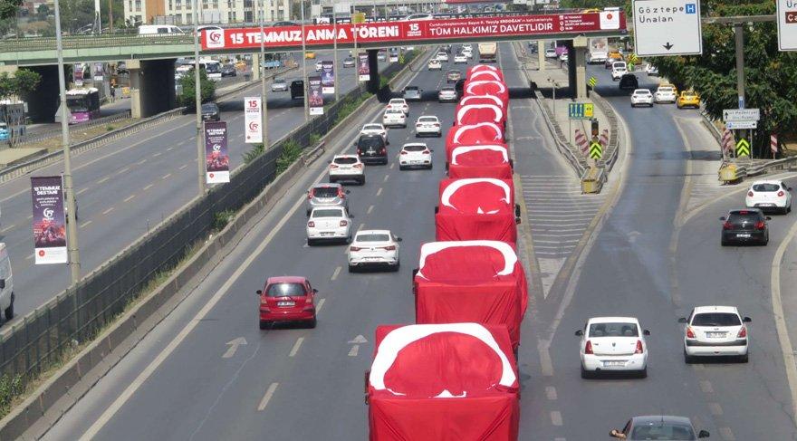 15 Temmuz Şehitler Köprüsü 12:00'da trafiğe kapatıldı