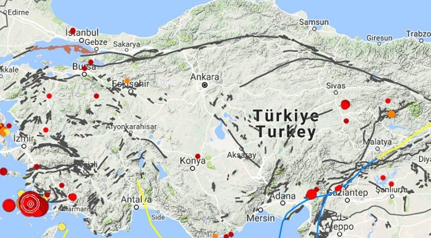 Kandilli Rasathanesi açıklıyor: İşte anbean son depremler