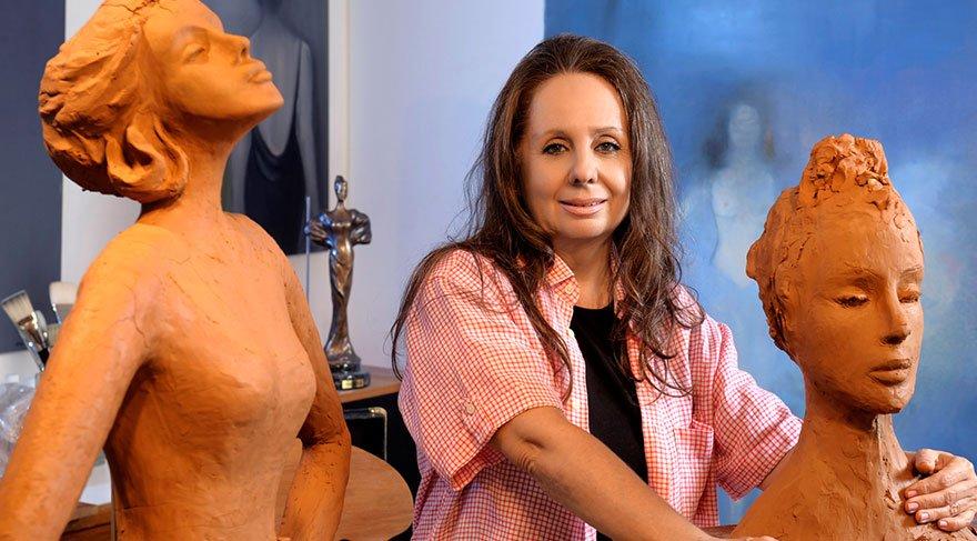 Kadın sorununu heykellerle anlatıyor