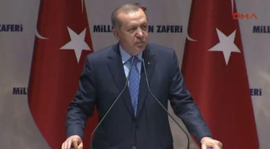 Erdoğan: Sokakta aranan adaletin adı intikamdır…