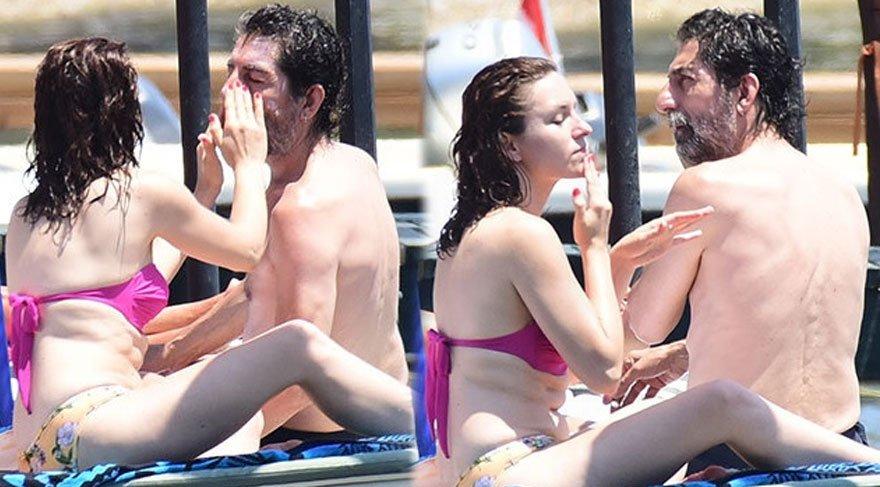 Mustafa Uğurlu genç sevgilisiyle tatilde