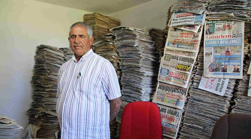Okuduğu gazeteleri 48 yıldır biriktiriyor