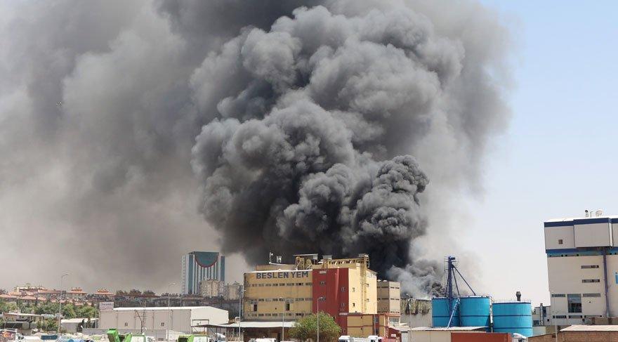 Gaziantep'teki fabrika yangını! İtfaiye seferber oldu