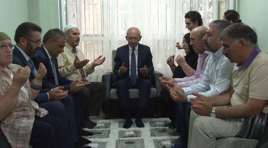 Kılıçdaroğlu'ndan Hasan Tatlı'nın ailesine taziye ziyareti