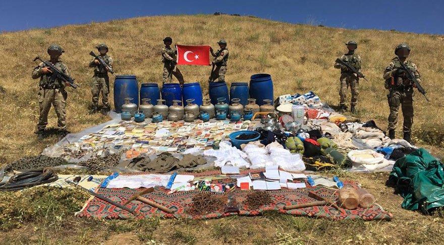 Lice'de PKK operasyonu: 1 ton 190 kilo amonyum nitrat