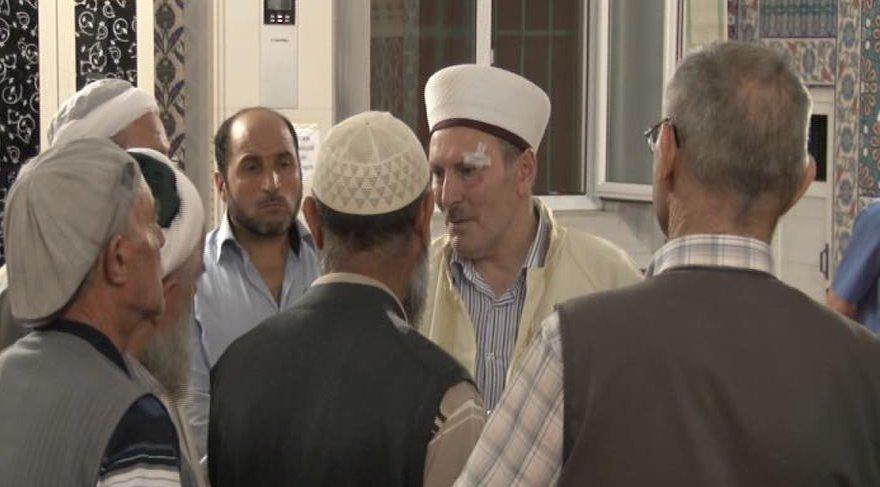 Cami bahçesine maytap atıp imam ve kardeşini dövdüler!