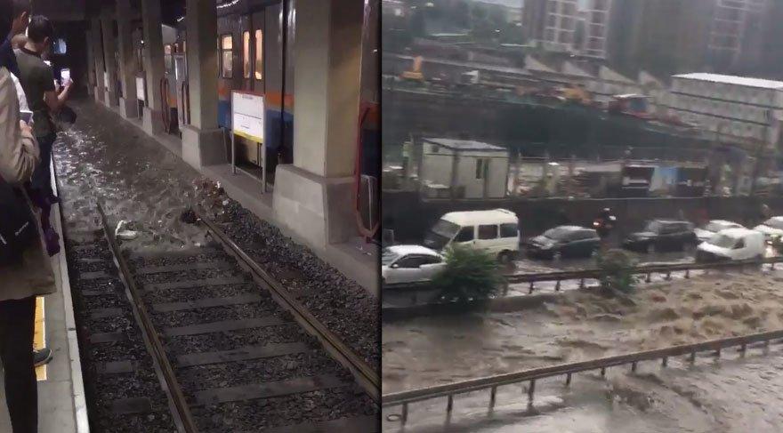 İstanbul yağmura teslim oldu! Sosyal medyadan mesaj yağdı