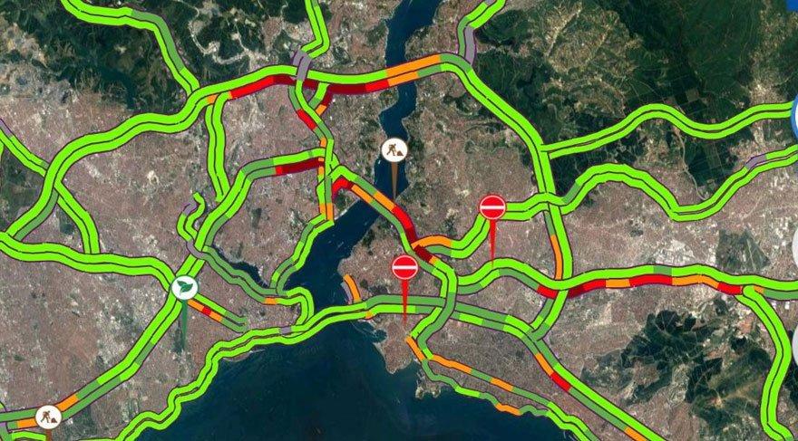 İstanbul'da bugün hangi yollar kapalı? (8 Temmuz yol durumu)