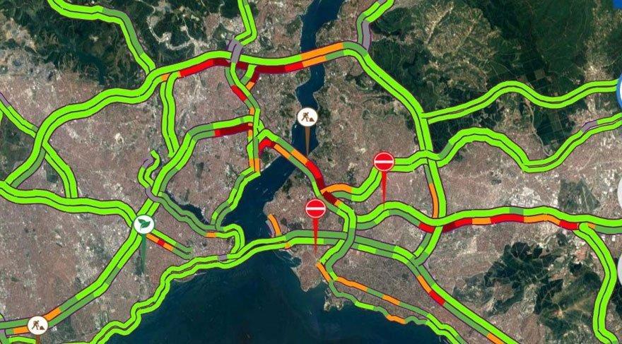 İstanbul'da bugün hangi yollar kapalı? (9 Temmuz yol durumu)