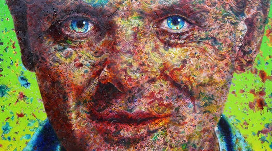 Ünlülerin portreleri Kadir Akyol'un 'İmgenin Refleksi' sergisinde