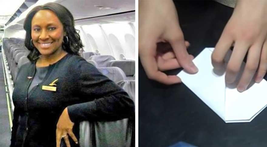 Genç kızın uçakta hostese verdiği 'Yardım Edin' notu gerçeği ortaya çıkarttı!