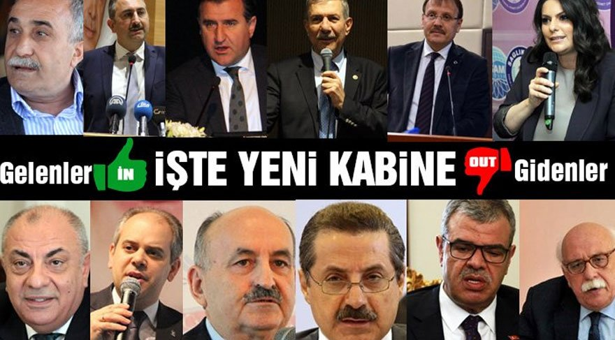 Başbakan Binali Yıldırım yeni kabineyi açıkladı... 11 koltuk değişti...