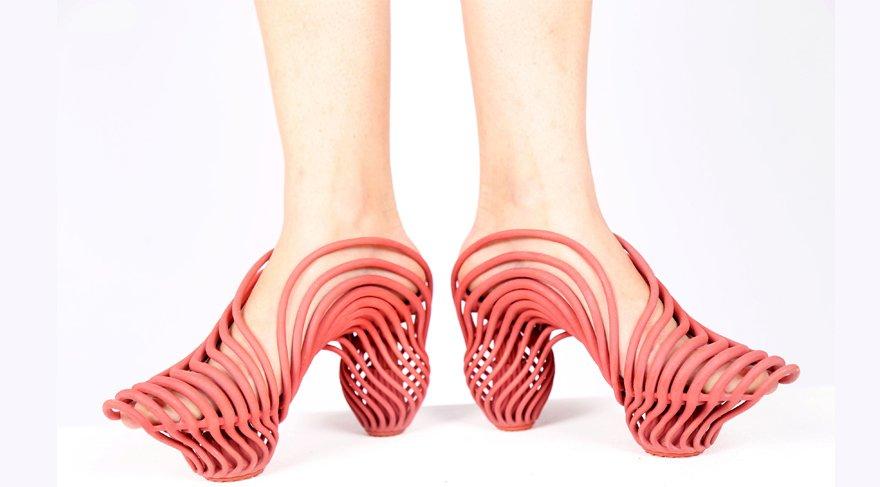 3 boyutlu yazıcıdan çıkan ayakkabılar oldukça popüler oldu